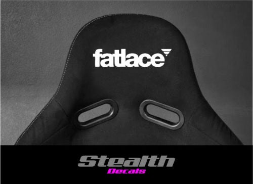 Image of 2x FATLACE Flock seat logos, Easy iron-on