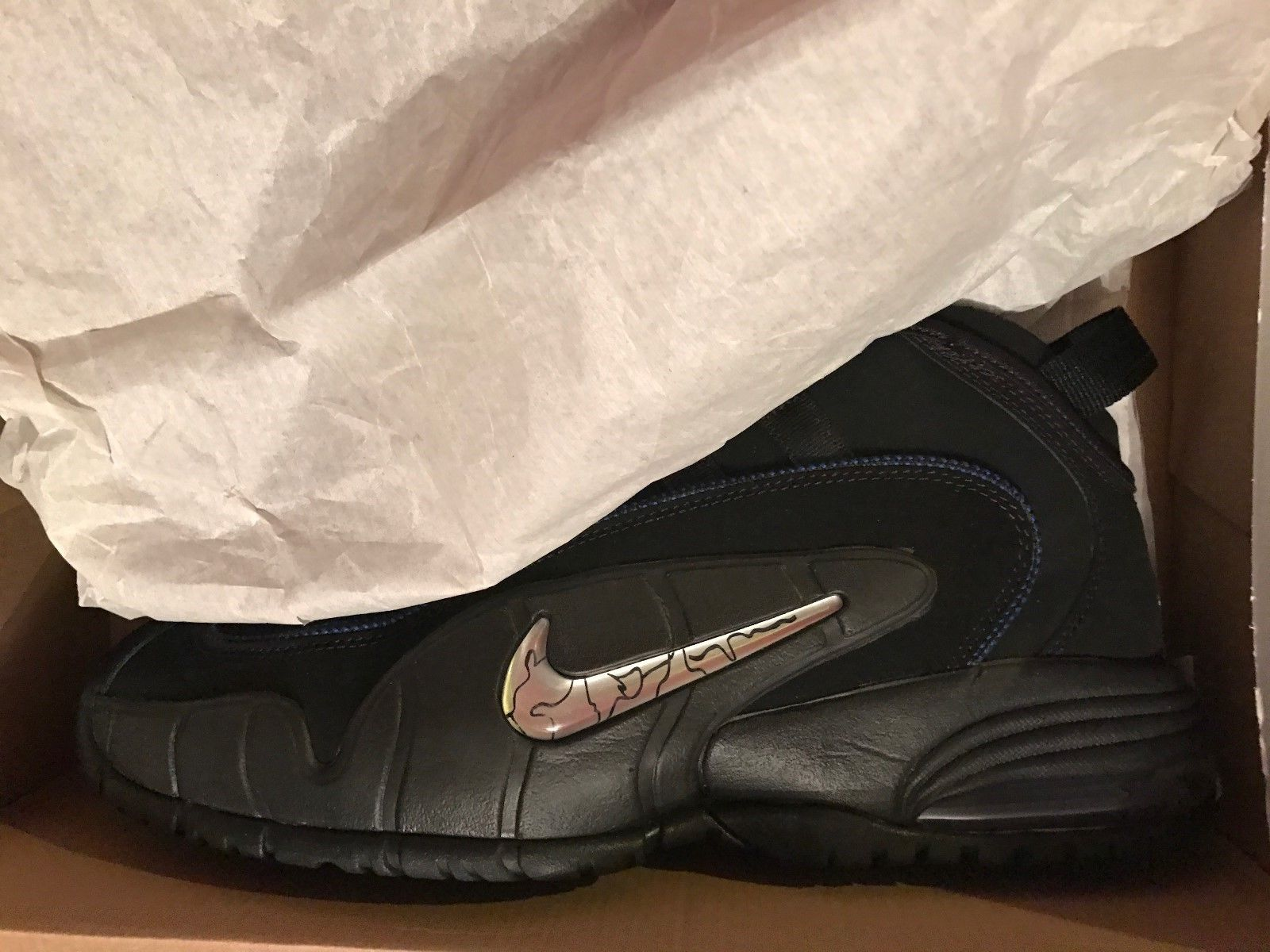 Image of Nike Air Max Penny 1 - size 13 - Used One Time! - Blue/Black