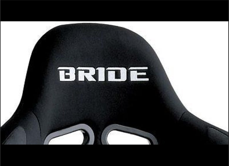 Image of 2x BRIDE Flock seat logos, Easy iron-on