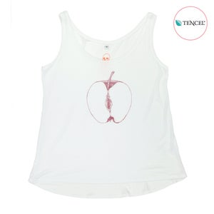 Image of VajApple White Girls Tank (Tencel)
