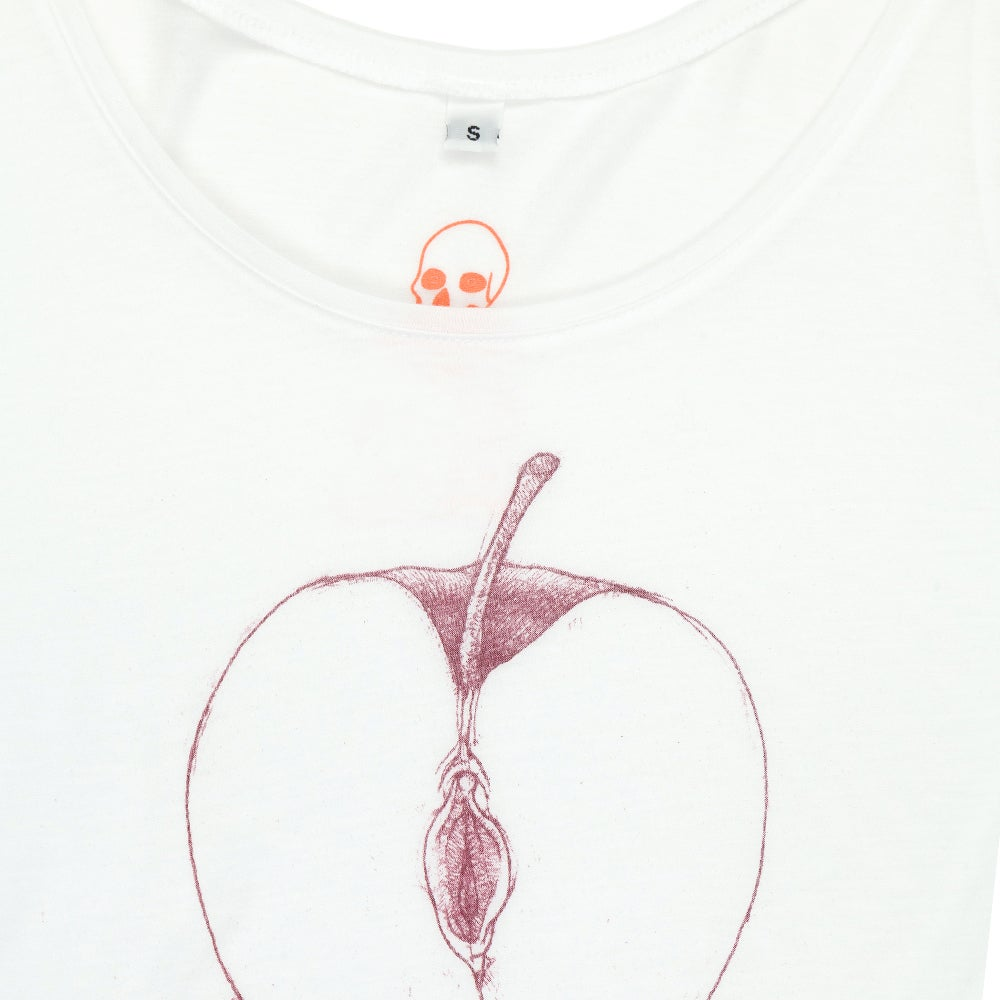 VajApple White Girls Tank (Tencel)