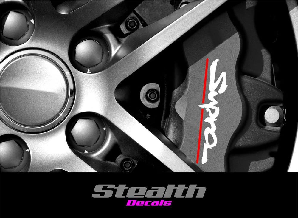 Image of SUPRA Premium Quality Brake Caliper Decals Stickers x4