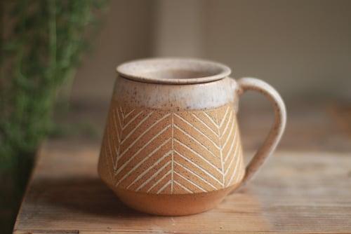 Image of Herringbone Mug & Tea Infuser Set