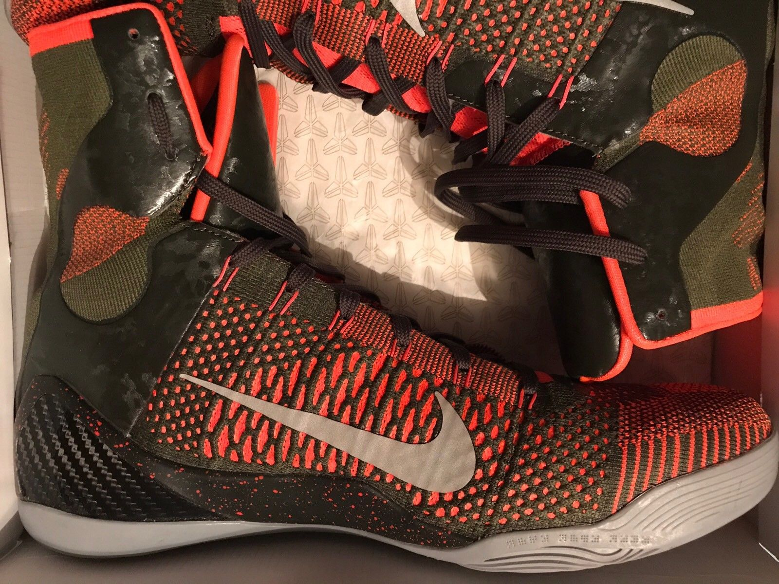 Image of Nike Kobe 9 IX Elite Strategy Sequoia Crimson Men's Size 13 Used Twice