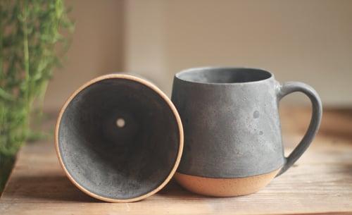 Image of Matte Charcoal Mug & Pour-Over Set
