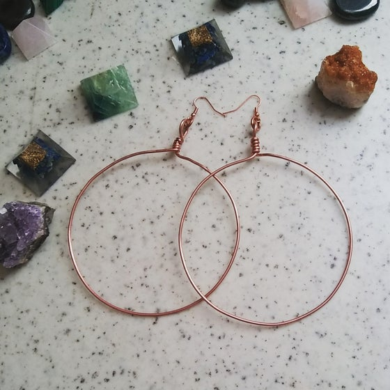 Image of Copper Hoops