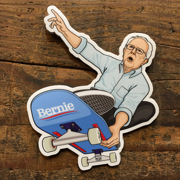 Image of Bernie Shreds Sticker