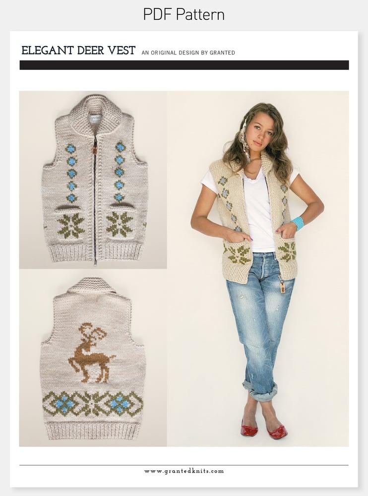 Image of Elegant Deer Vest Pattern (PDF)