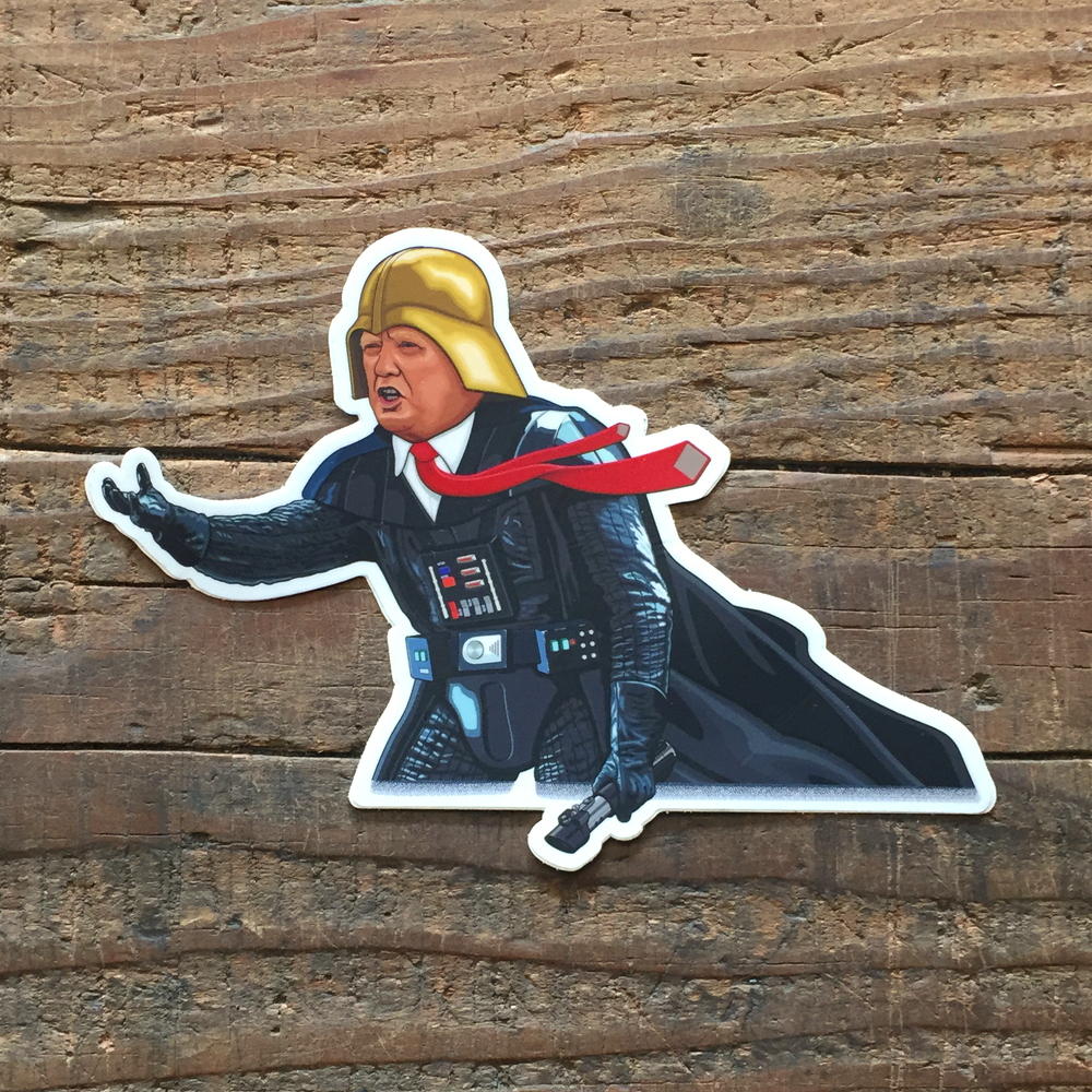 "Image of ""Darth Idious"" Trump Vader Sticker"
