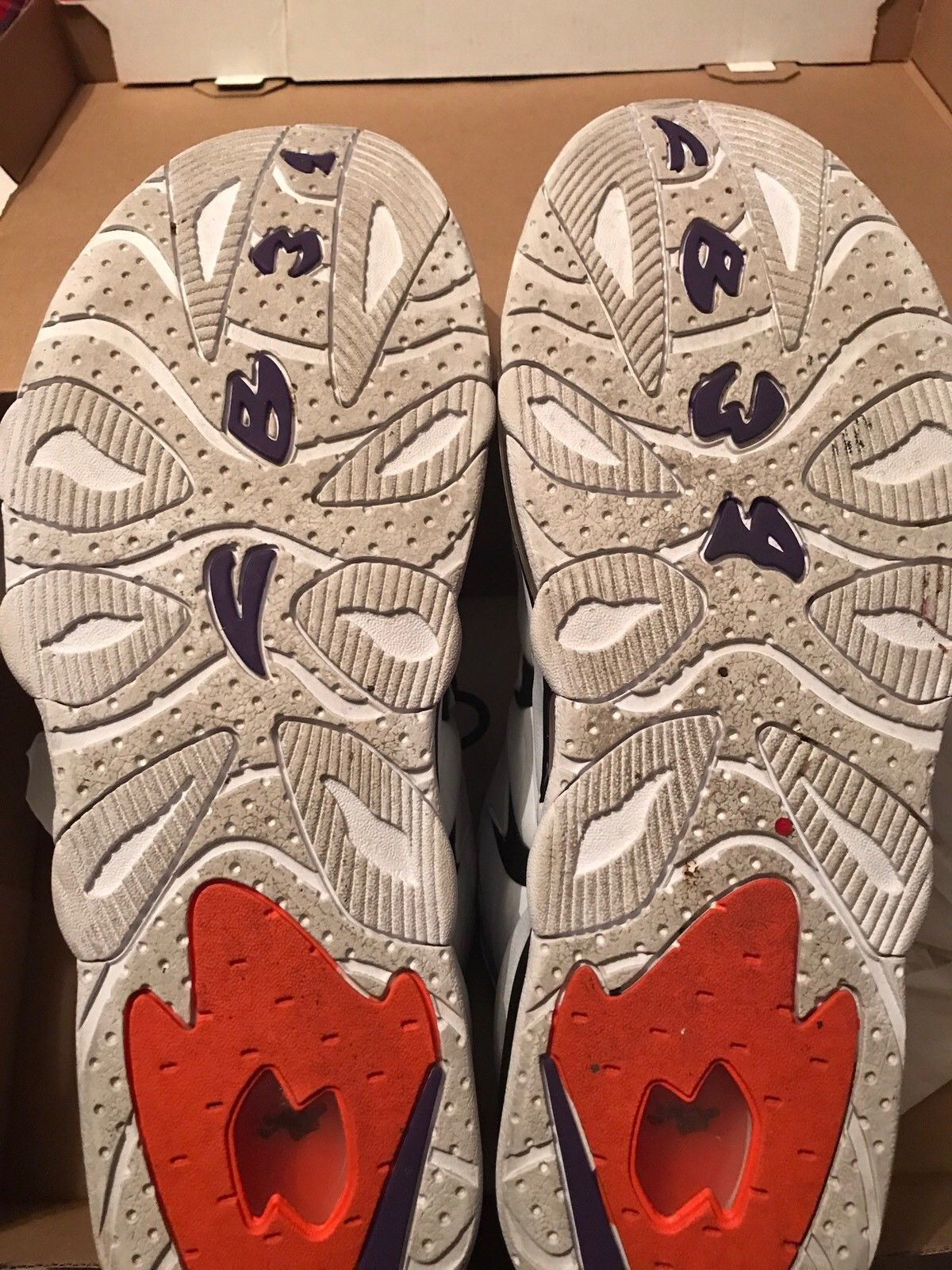 Image of Nike Air Max Charles Barkley Retro White Purple Orange Black DS - Size 13 - Used
