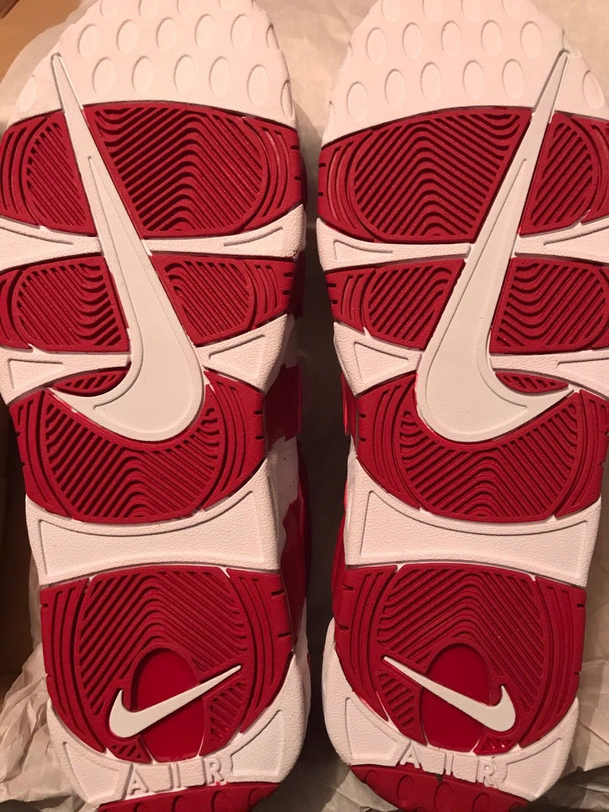 Image of Nike Air More Uptempo Gym Red White- Size 13 - Used One Time DS Exclusive