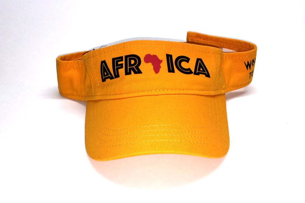 "Image of World Tour ""Africa"" Visor Gold"