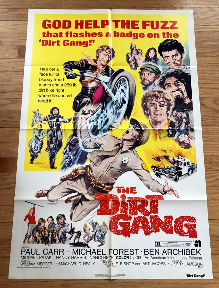 Image of 1972 THE DIRT GANG Original U.S. One Sheet Movie Poster