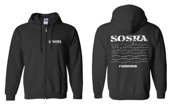 Image of OFFICIAL - SOSRA - BLACK ZIP HOODIE