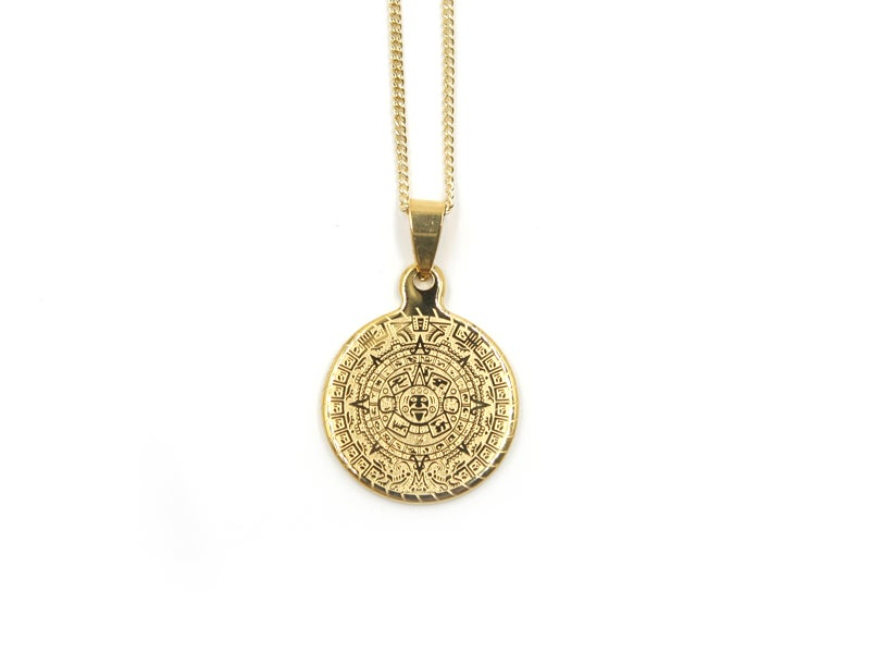 Aztec Calendar Necklace