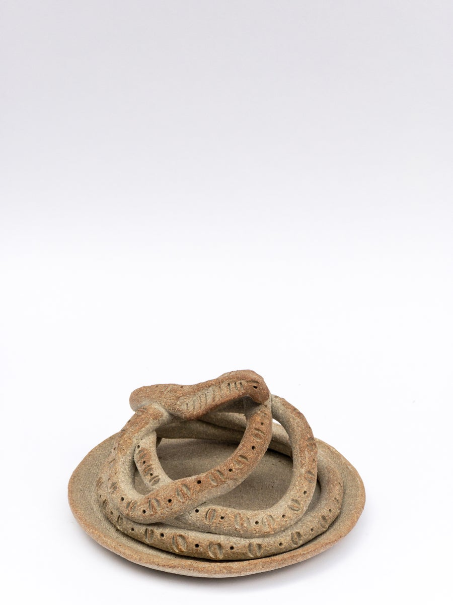 Image of Coil Snake Cone Incense Holder - Tan (not toasty) - Last one