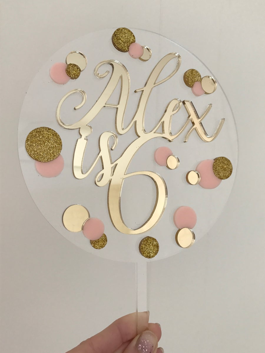 Glistening Occasions Birthday Cake Toppers