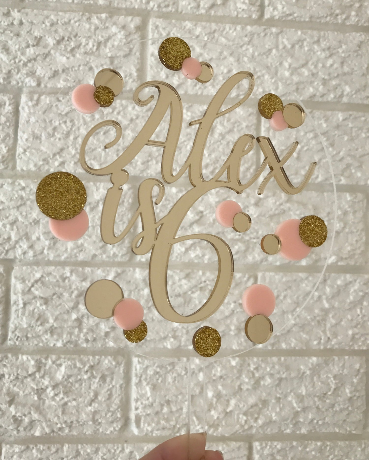Image of Floating Confetti Cake Topper