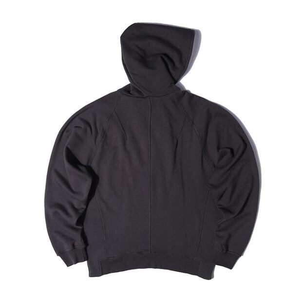 Image of Dark Grey Half Zip Fleece Hoodie
