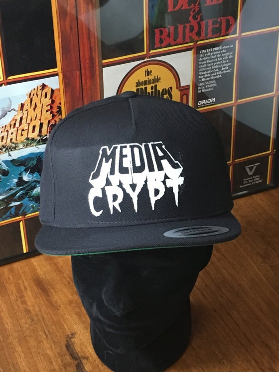 Image of Media Crypt Hat unstructured SnapBack or Trucker Mesh