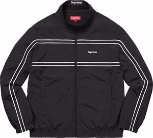 Image of Supreme piping track jacket Black