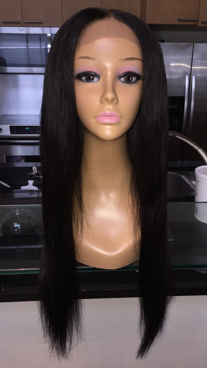 "Image of Peruvian Straight 22"" Custom Lace Closure Wig!"