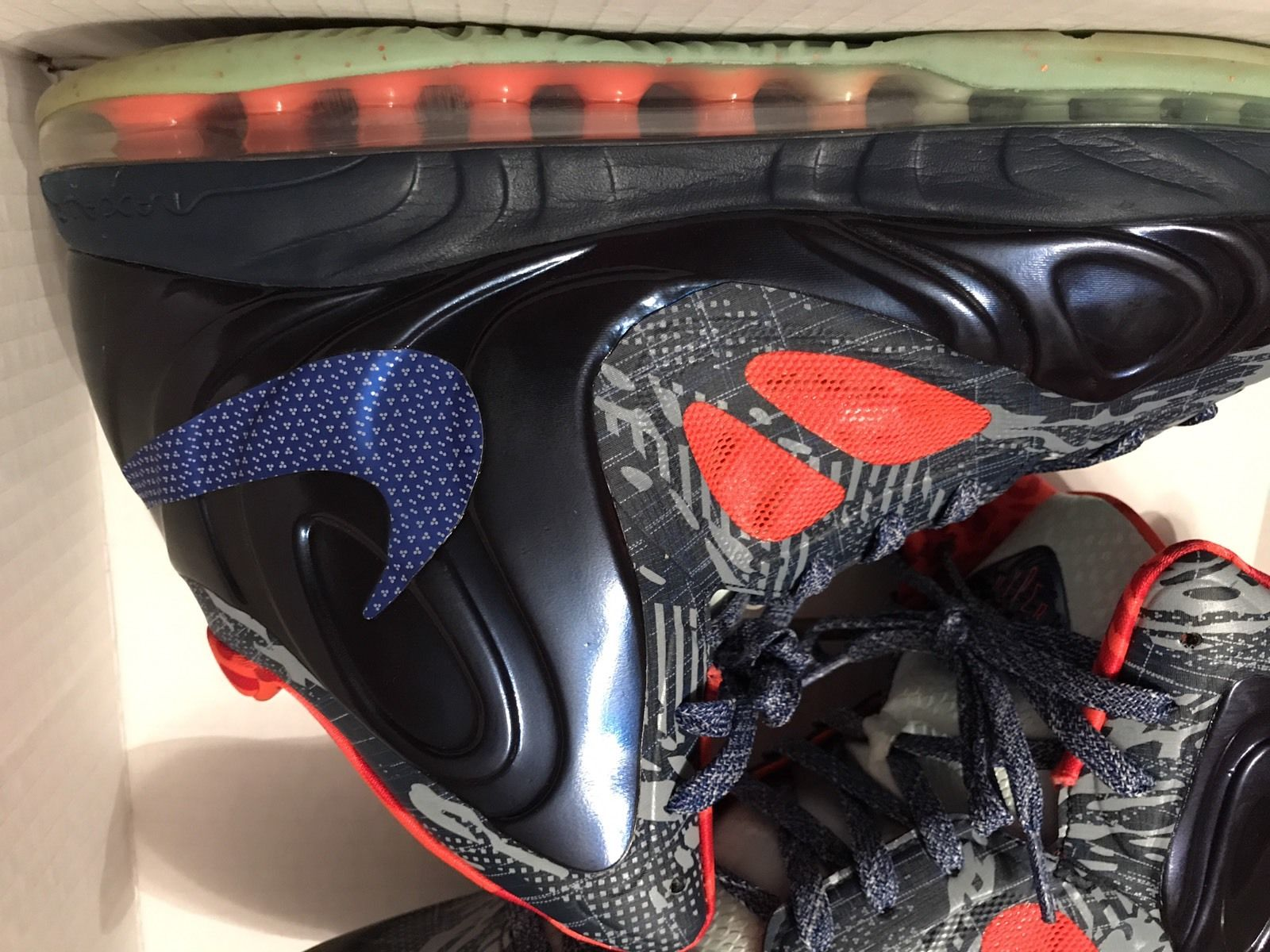 Image of Nike Air Max Hyperposite Hyper Blue Obsidian Crimson Sz 14 - Used