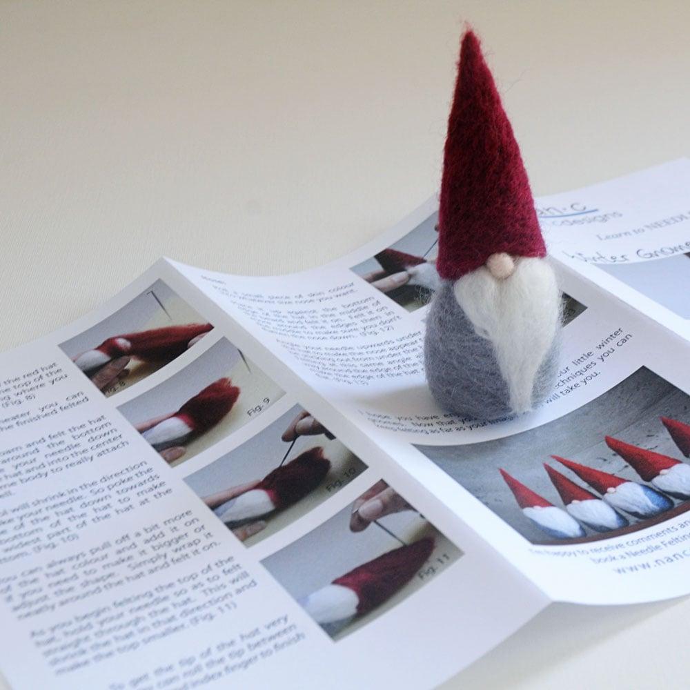Winter Gnome - Needle Felting Kit