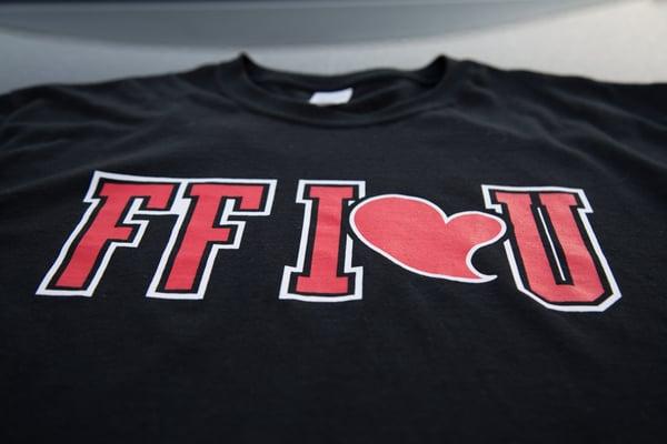 Image of FF I❤️U Blk/Red/White T-Shirt