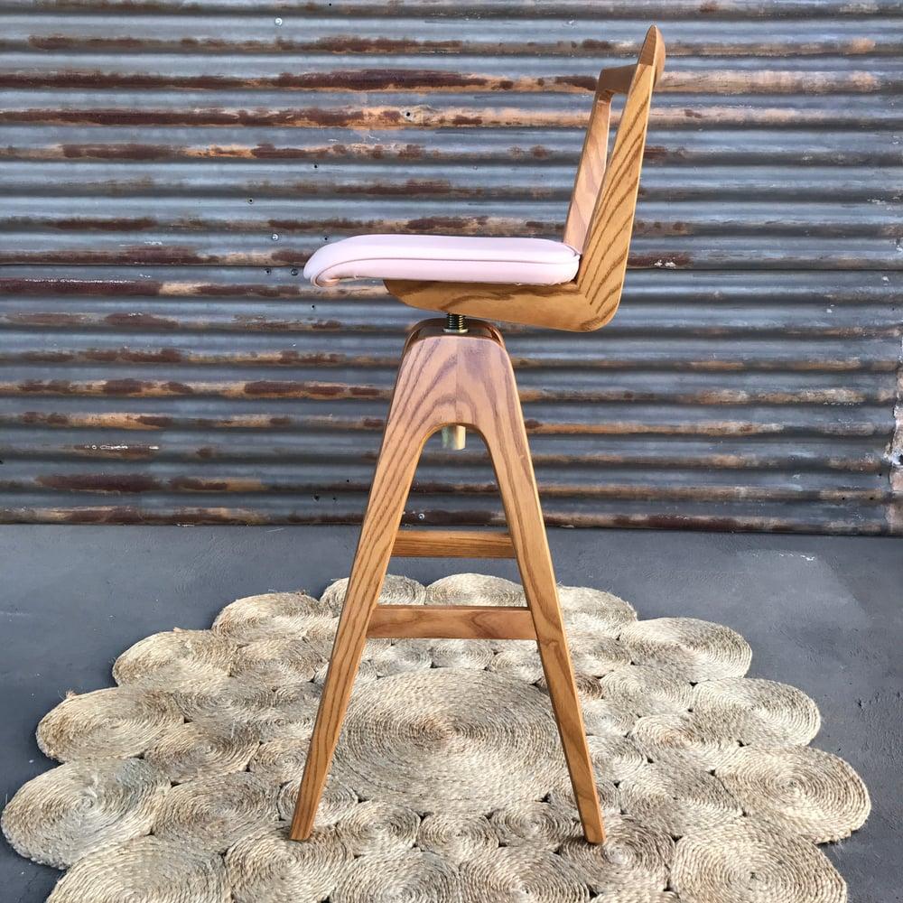 Image of TH Brown Re-release Danish Bar stool ~ Light Ash ~