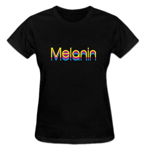 Image of Black Multicolored Melanin T-shirt