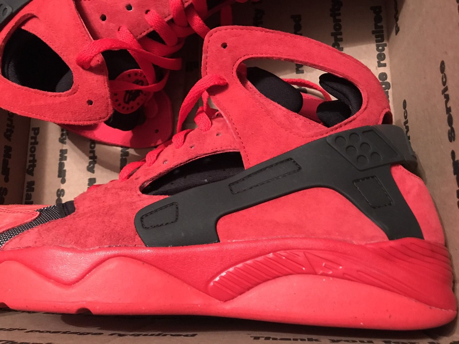 71d841140fe7 Nike Air Flight Huarache - Red Love Hate - Size 13 - Red Suede - New ...