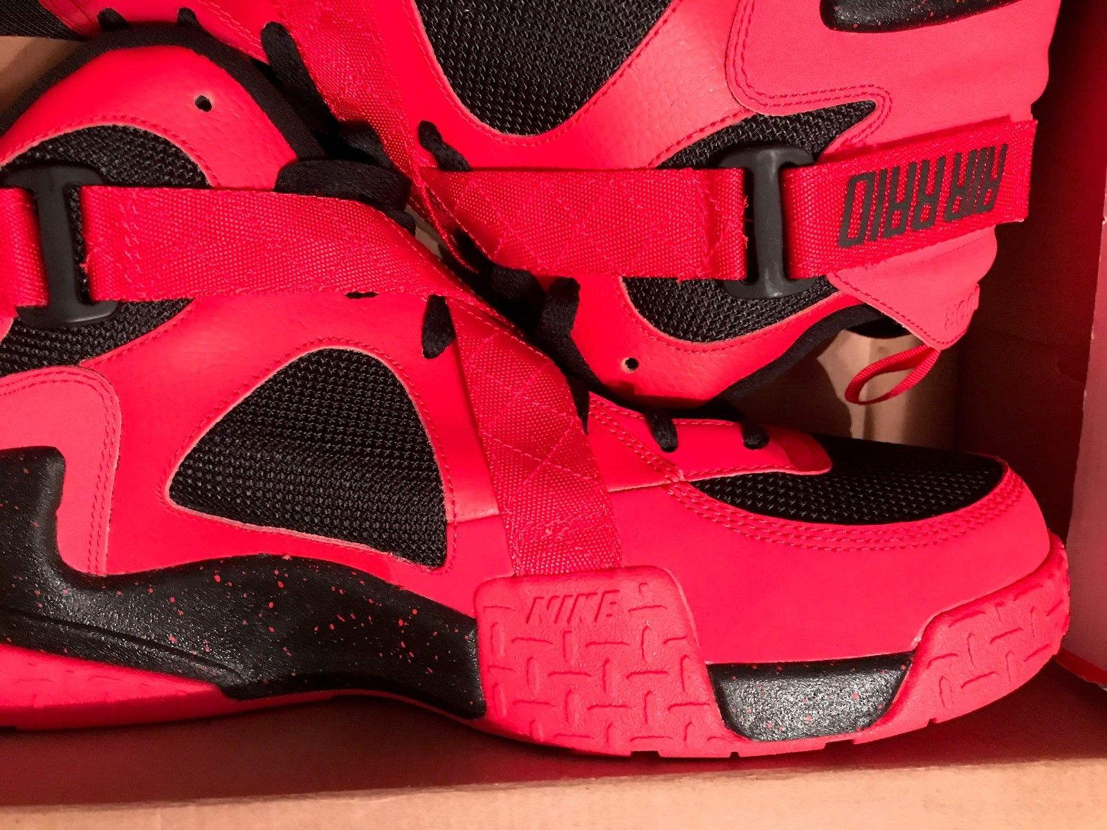 Image of Nike Air Raid Lifestyle Shoes Size 14 Red Black White New