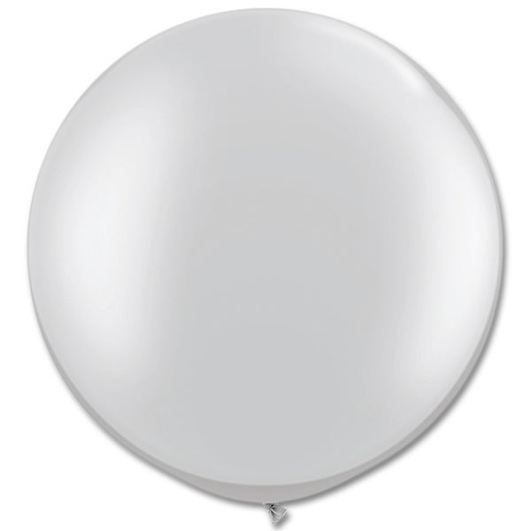Image of Giant Round Balloons - Metallic Silver