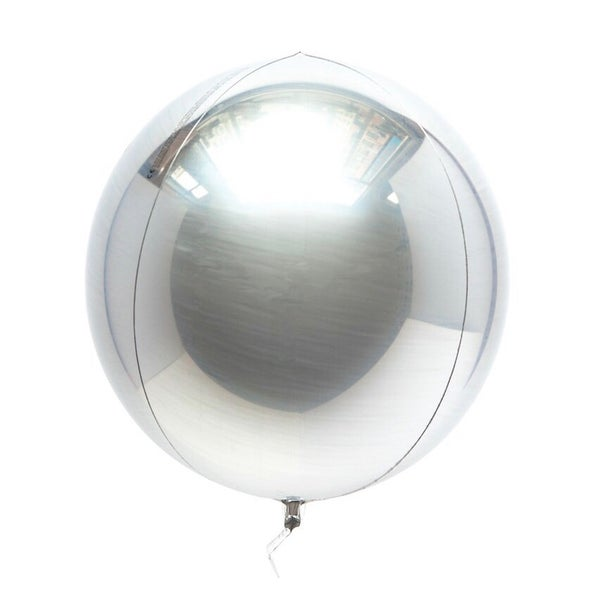 Image of Mylar Orb Silver Balloon