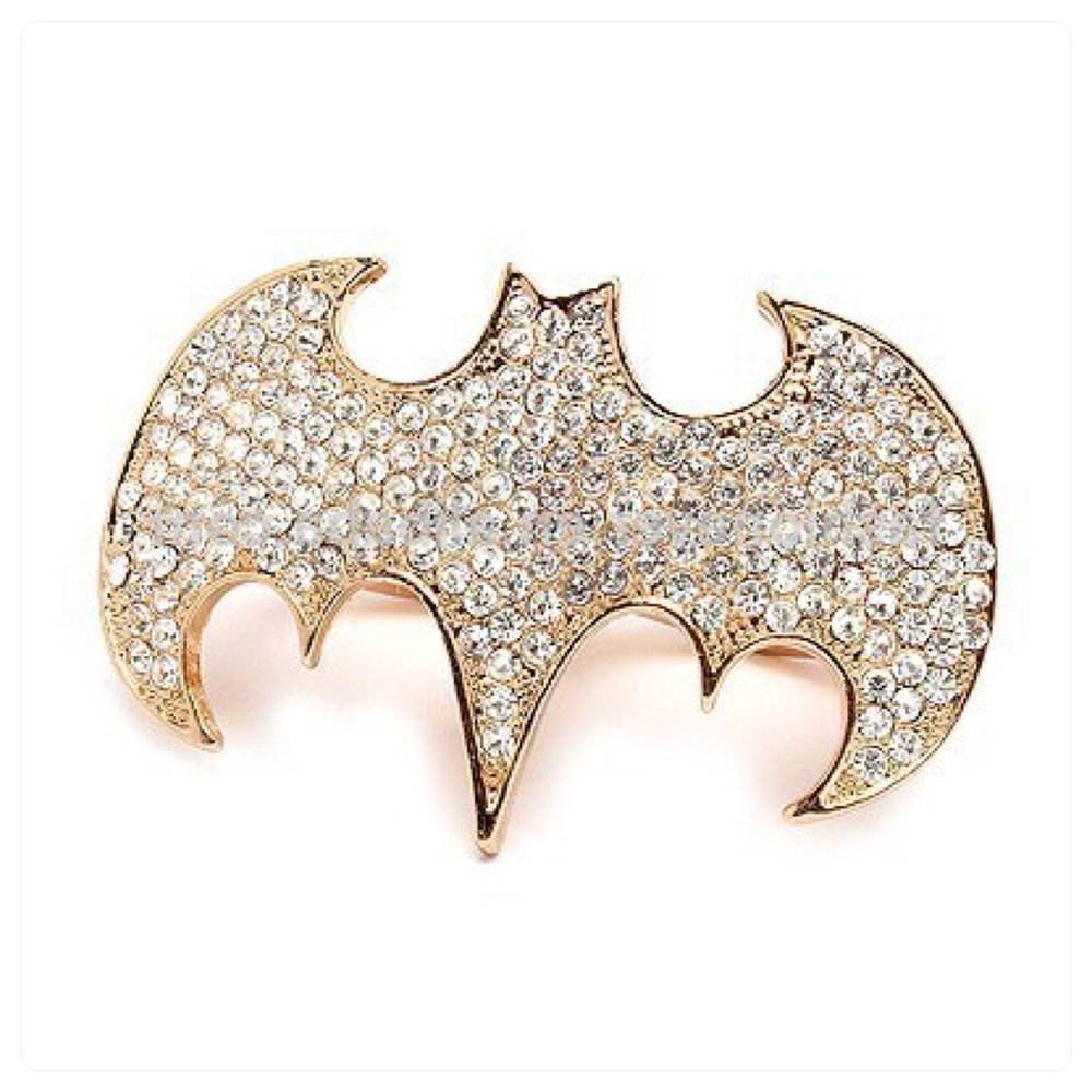 Image of Batman Crystal Double finger stretch ring
