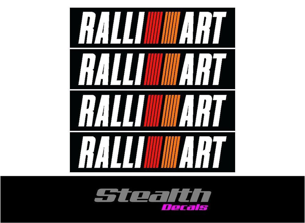 Image of Mitsubishi evolution RALLIART bumper decal sticker kit