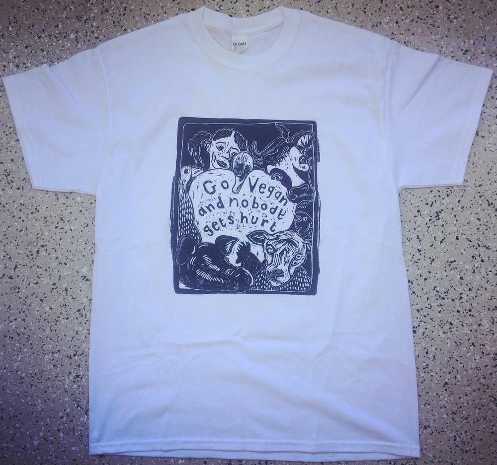 Image of Go vegan and nobody will be Hurt T-Shirt