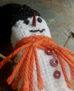 Image of Snowman Decoration, handwoven
