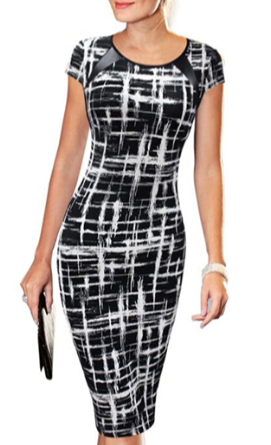 Image of Abstract bodycon dress