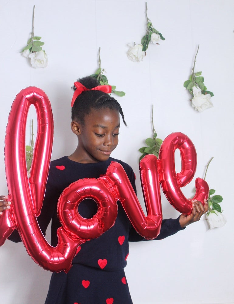 Image of Love script balloon