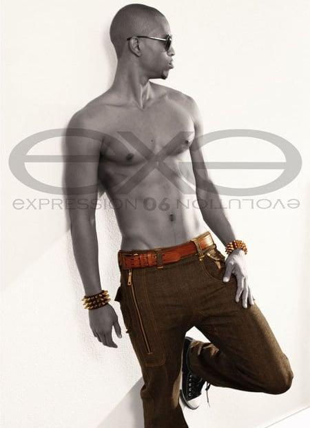 Image of EXPRESSION 06 EVOLUTION - (MEN) SIDE ZIPPER MID BLUE DENIM JEAN / RELAX SLIM FIT