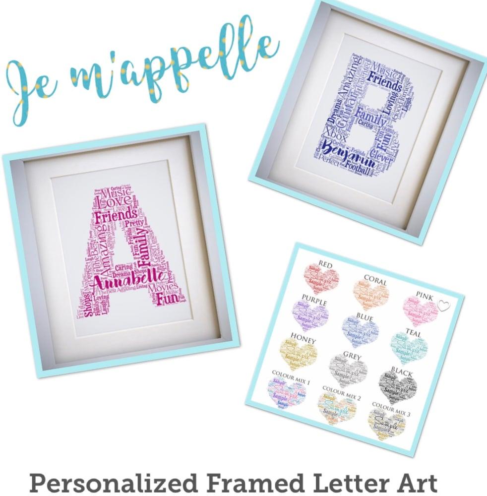 Image of Custom Framed Letter Art