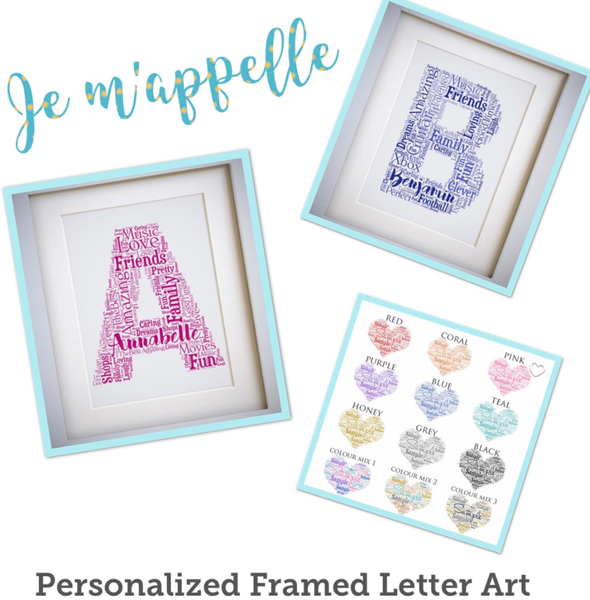 Image of Custom Framed Letter Art