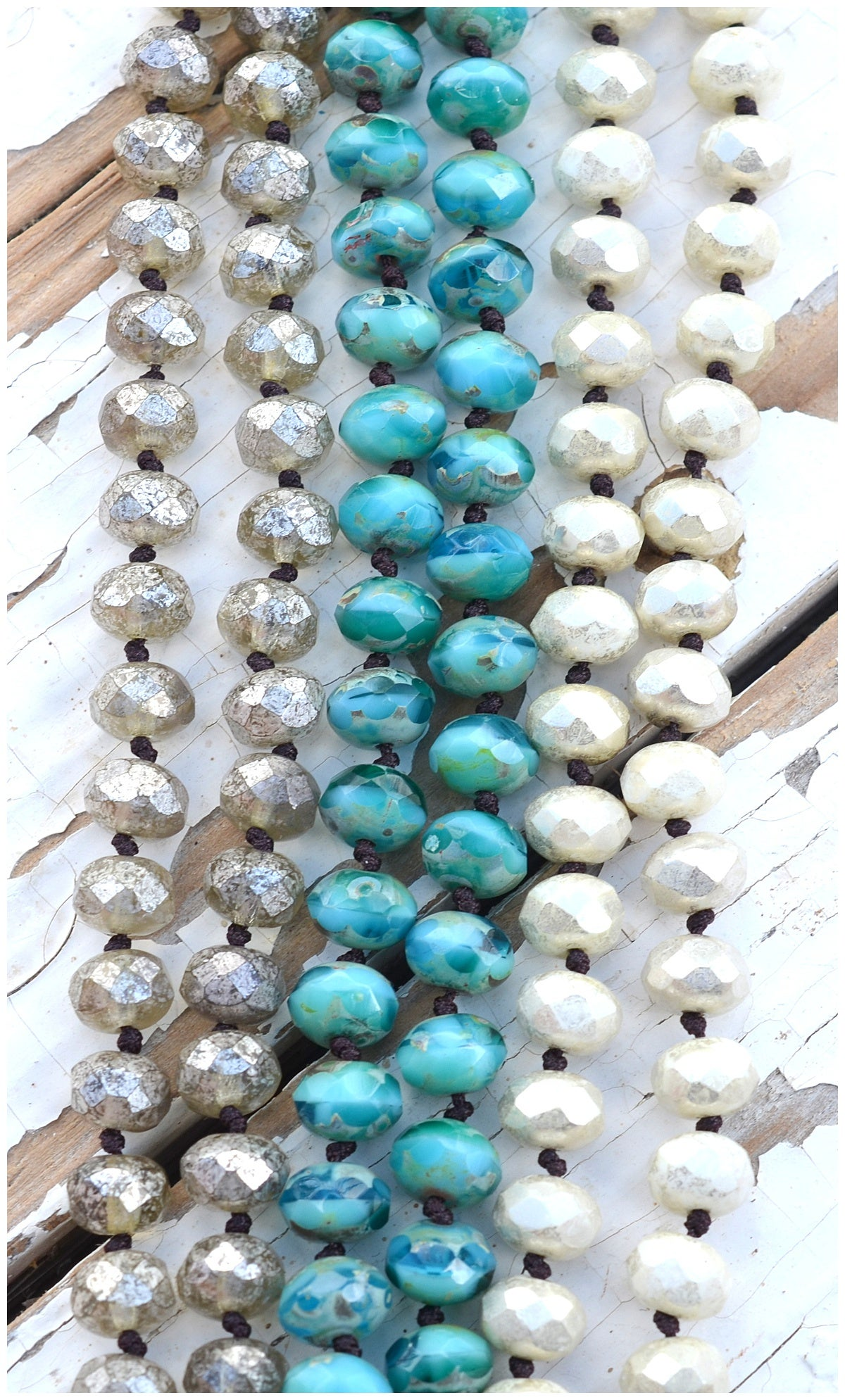 Image of Knotted Czech Glass Bracelets