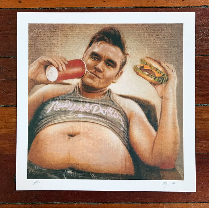 Image of Morrissey print by David Imlay