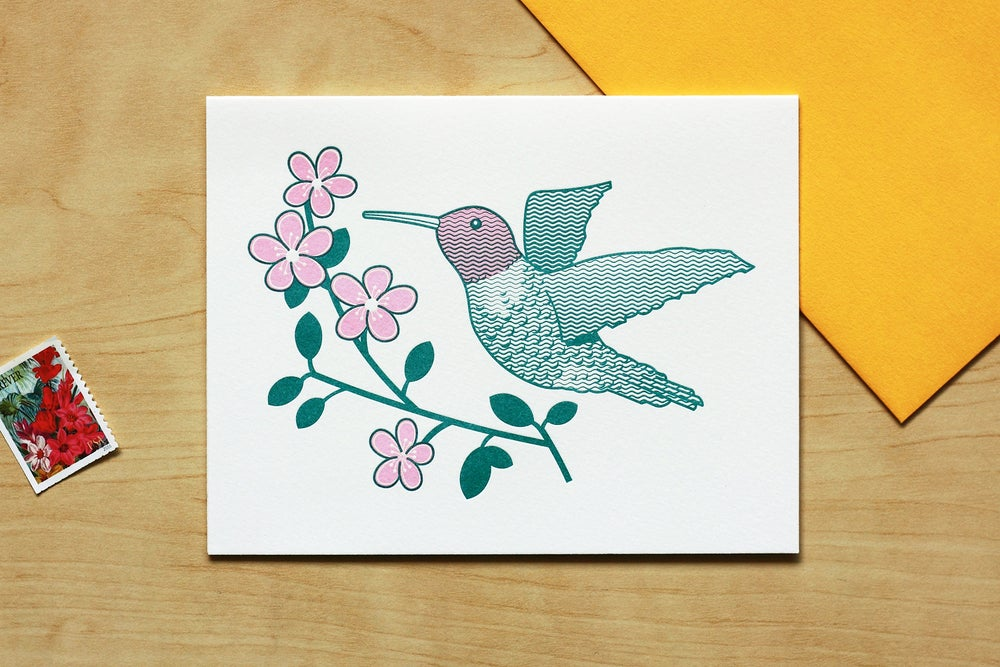 Image of HUMMINGBIRD CARD