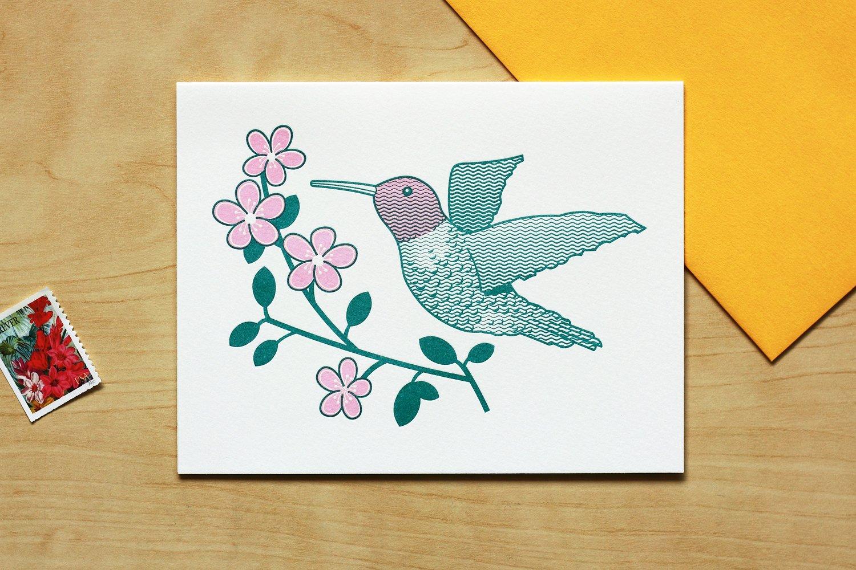 Image of HUMMINGBIRD CARD