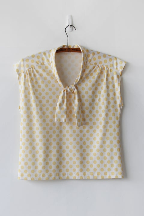 Image of SOLD Yellow Polka Dot Blouse