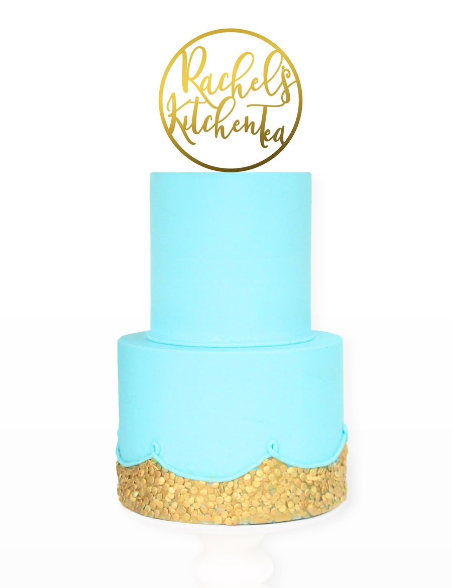 Image of Custom Circle Script Cake Topper